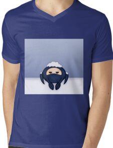 Blu Spycrab Hates Snow Mens V-Neck T-Shirt