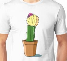 Potted Yellow Cactus Unisex T-Shirt