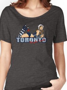 Toronto Maple Leafs Chickybabe Women's Relaxed Fit T-Shirt