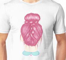 Red Braided Bun Unisex T-Shirt