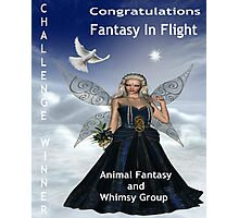 Challenge Winner Banner.  Fantasy in Flight.  Animal Fantasy and Whimsy Group Photographic Print