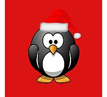 Christmas Penguin Photographic Print