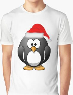 Christmas Penguin Graphic T-Shirt