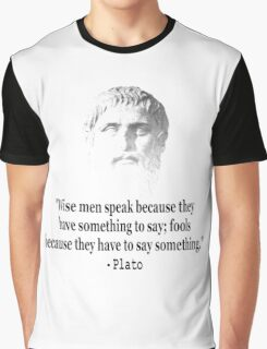 Quote By Plato Graphic T-Shirt