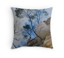 Orford Cliff Face Throw Pillow