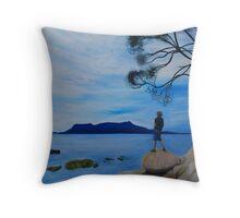 Mercury Passage Cliff Face Watching Maria island Throw Pillow