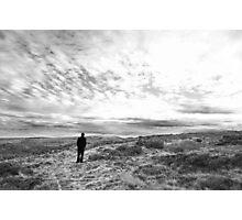 Man on Moors 'Heathcliff' Photographic Print