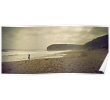 Alone at Bells Beach Poster