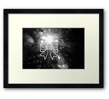 illumination of bow - christmas lights yorkshire Framed Print