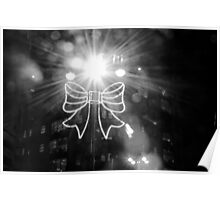 illumination of bow - christmas lights yorkshire Poster