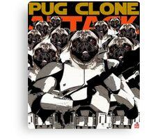 Pug Clone Attack Canvas Print