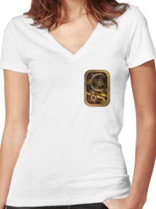Mechanical heart small - Steam punk Women's Fitted V-Neck T-Shirt