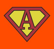 A letter in Superman style Kids Clothes