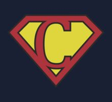 C letter in Superman style One Piece - Short Sleeve