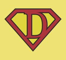 D letter in Superman style Kids Tee