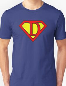 D letter in Superman style Unisex T-Shirt
