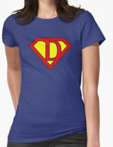 D letter in Superman style Womens Fitted T-Shirt