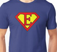 E letter in Superman style Unisex T-Shirt