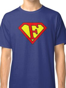 F letter in Superman style Classic T-Shirt