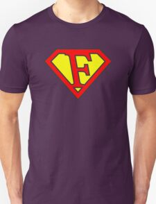 F letter in Superman style Unisex T-Shirt