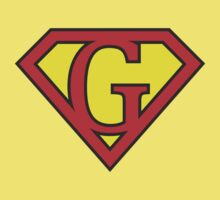 G letter in Superman style One Piece - Short Sleeve