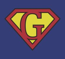 G letter in Superman style by florintenica