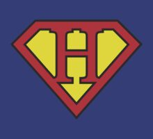 H letter in Superman style by florintenica