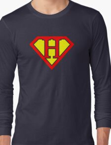 H letter in Superman style Long Sleeve T-Shirt