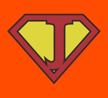 J letter in Superman style Kids Clothes