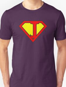 J letter in Superman style T-Shirt