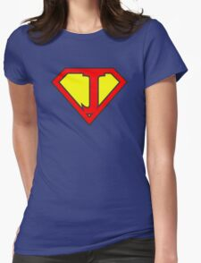 J letter in Superman style Womens Fitted T-Shirt