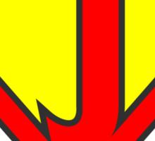 J letter in Superman style Sticker