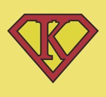 K letter in Superman style Kids Tee