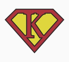 K letter in Superman style Kids Clothes