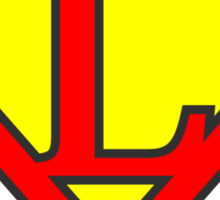 L letter in Superman style Sticker