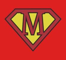 M letter in Superman style One Piece - Short Sleeve