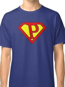 P letter in Superman style Classic T-Shirt