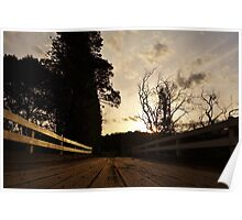 Bridge, sunset Poster