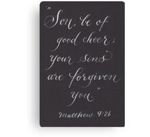 Scripture Matthew 9:2 calligraphy art Canvas Print