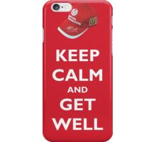 Keep Calm and Get Well (hat) iPhone Case/Skin