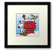 Snoopy Waiting for christmas Framed Print