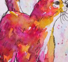 Colourful Cat Sticker
