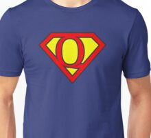 Q letter in Superman style Unisex T-Shirt