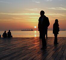 silluets in the sunset by mkokonoglou