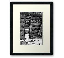 An Old Cabin Framed Print
