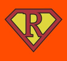 R letter in Superman style Kids Clothes