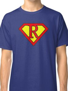 R letter in Superman style Classic T-Shirt