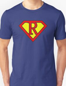 R letter in Superman style T-Shirt