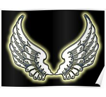 WINGS, ANGEL, angelology, Flight, Fly, Angel, Angelic, Air Force, Jets, on BLACK Poster