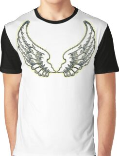 WINGS, ANGEL, angelology, Flight, Fly, Angel, Angelic, Air Force, Jets, on BLACK Graphic T-Shirt
